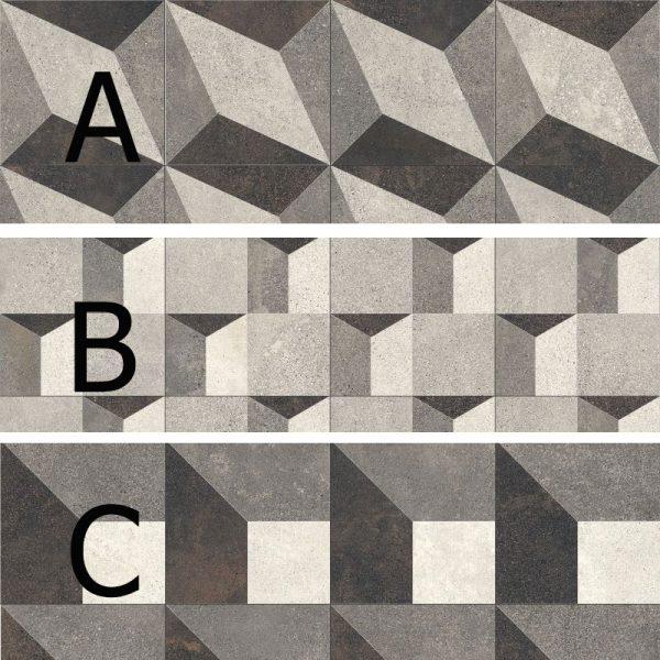 BENEDIKT TILES ABK Play Concrete Design B 20x20 nat.