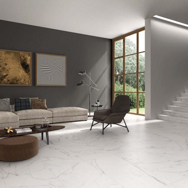 BENEDIKT TILES ABK Statuario White 60x120 sablé rett.
