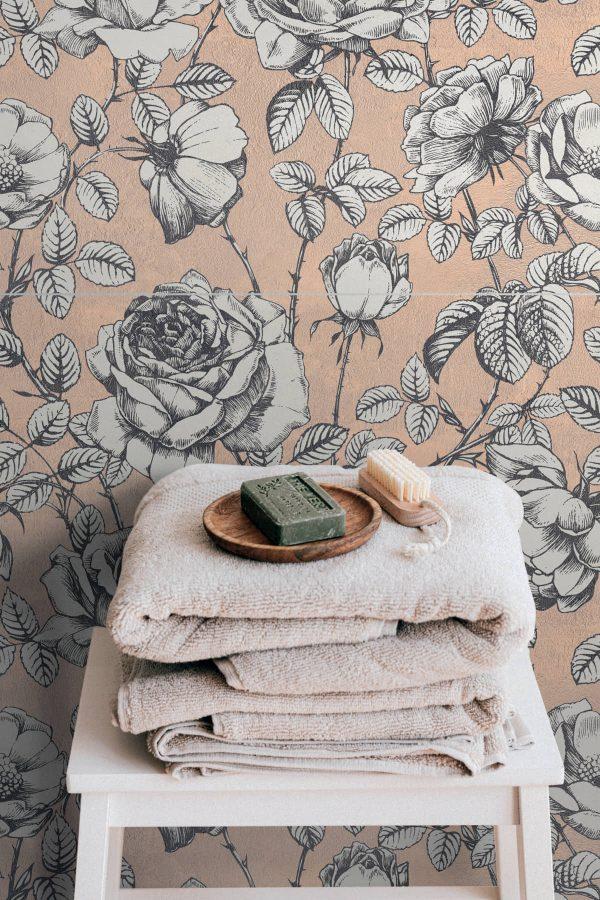 BENEDIKT TILES ABK Wide & Style Roses 60x120 nat. rett.