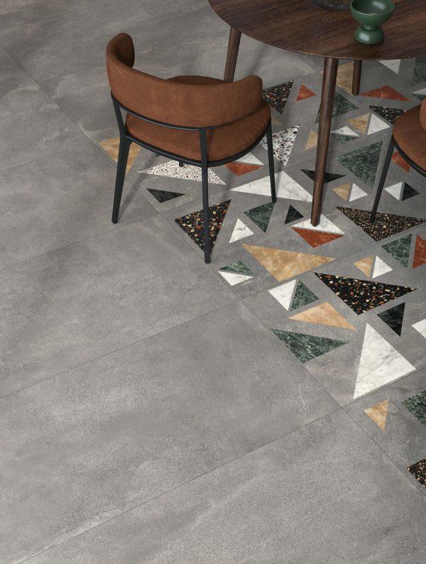 BENEDIKT TILES ABK Blend Concrete Grey 60×120 nat. rett.
