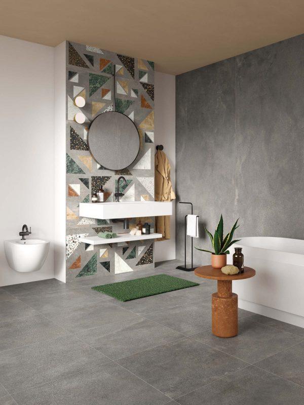 BENEDIKT TILES ABK Blend Concrete Grey 90x90 nat. rett.