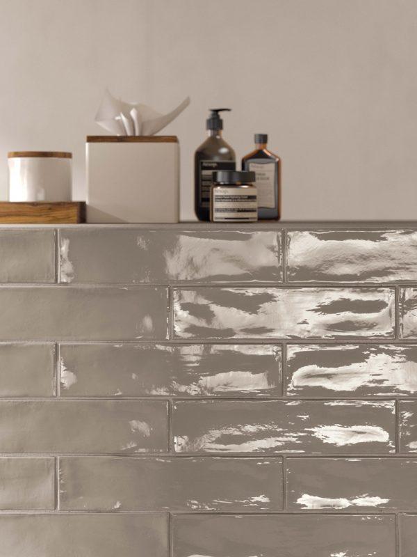 BENEDIKT TILES ABK Crossroad Brick Sand 7,5x30 glossy