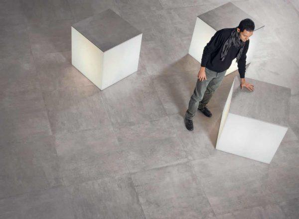 BENEDIKT TILES Emil On Square Cemento 60x60 nat. rett.