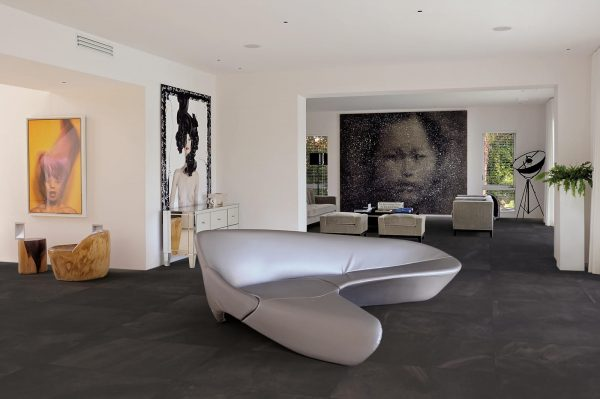 BENEDIKT TILES Ergon Architect Resin Bruxelles Black 30x60 nat. rett.